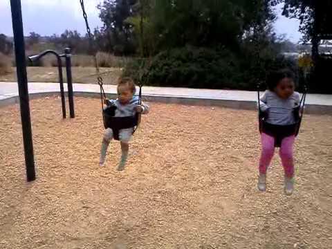 Swinging at the playground something