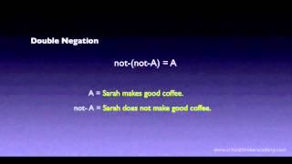 Propositional Logic: Double Negation Thumbnail