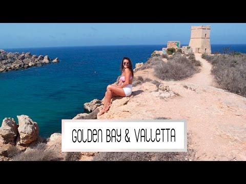GOLDEN BAY & VALLETTA TOUR MALTA | Laura Ponticorvo | VLOG #244