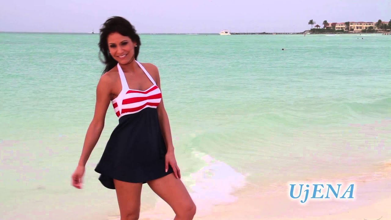 0eb1aabb0d UjENA Sailor Girl Swim Dress z297 | Ujena Swimwear - YouTube