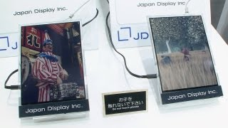 Paper-like low-power color LCD plays video - Japan Display (JDI) #DigInfo thumbnail