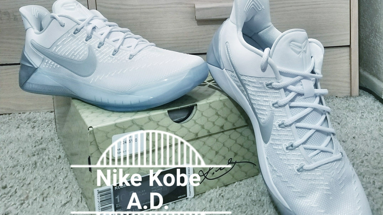 half off f25d7 cdcd2 NIKE KOBE A.D. WhiteChrome UNBOXING!