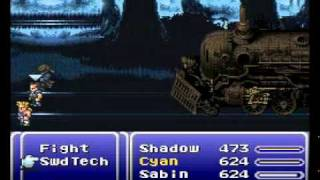 Final Fantasy 6 - Sabin Suplexes a Train to Death