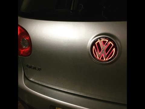 Mk5 golf rear LED light up emblem badge