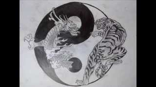 drawing:dragon and tiger