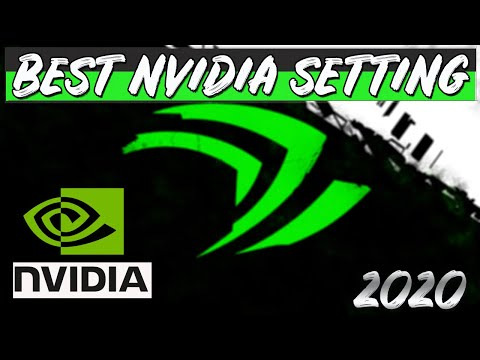 THE BEST NVIDIA  SETTING /FIX FPS DROP / NO V-SYNC  / Simple & Easy 2020