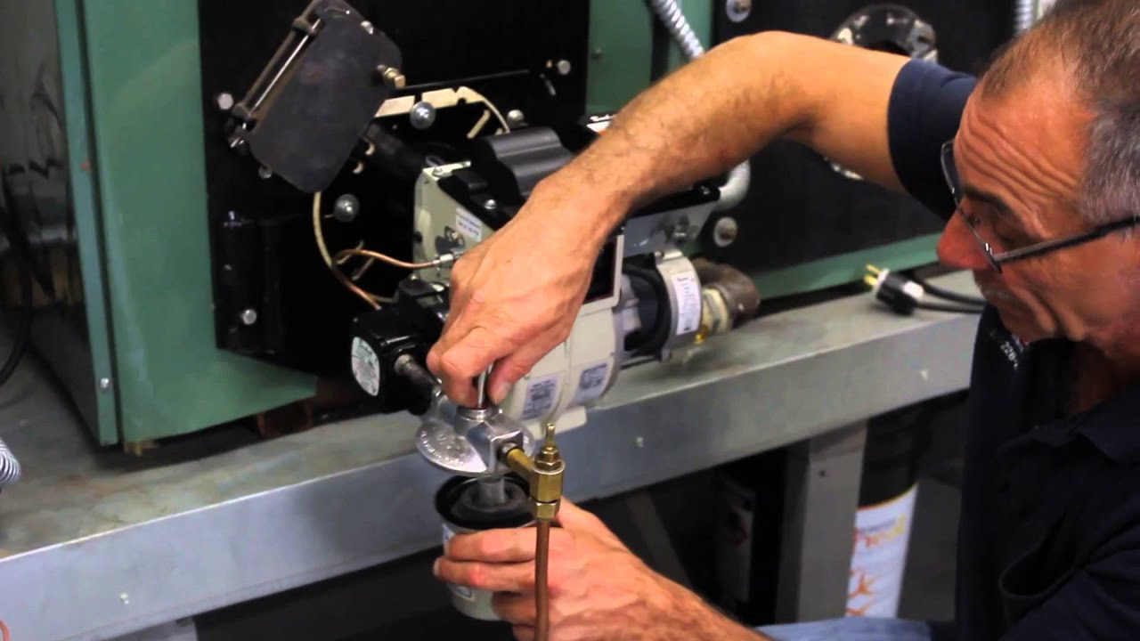 Replacing A Filter For An Oil Boiler - YouTube