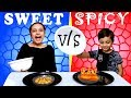 SPICY vs SWEET challenge #Funny #Kids | Tasty snacks for kids | Aayu and Pihu Show