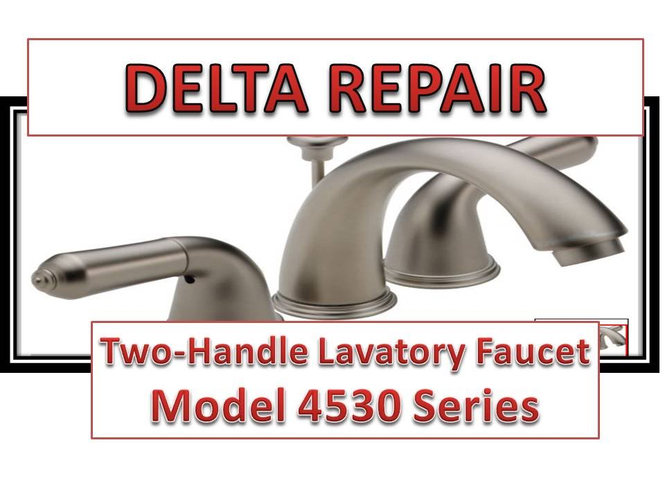 How To Fix Leaky Bathroom Handle  Delta Faucet Model 4530 Series Hard Water YouTube