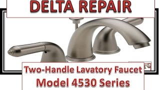 How To Fix Leaky Bathroom Handle   Delta Faucet Model 4530 Series   Hard Water
