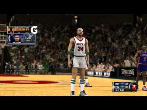 NBA 2K12 Online Gameplay: 1985 Milwaukee Bucks (Kush77) vs. 1989 Detroit Pistons (MrLogic1234)