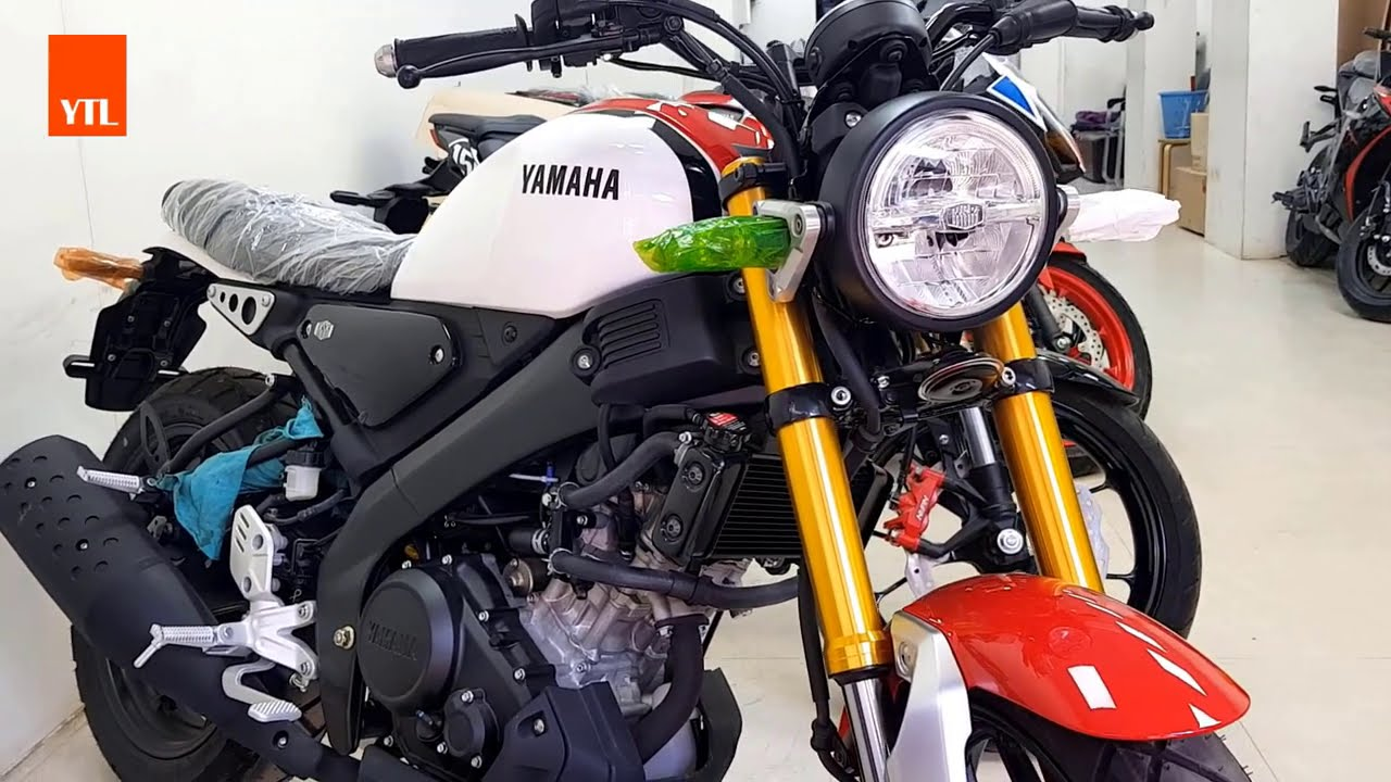NEW YAMAHA XSR 155 ( Red mixed White ) HD VIDEO 2020