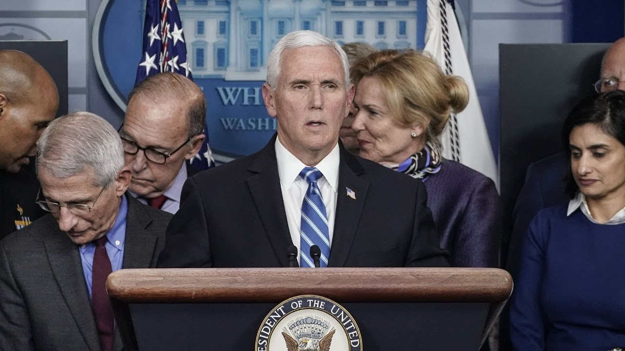 Watch live: Pence holds press conference with coronavirus task ...