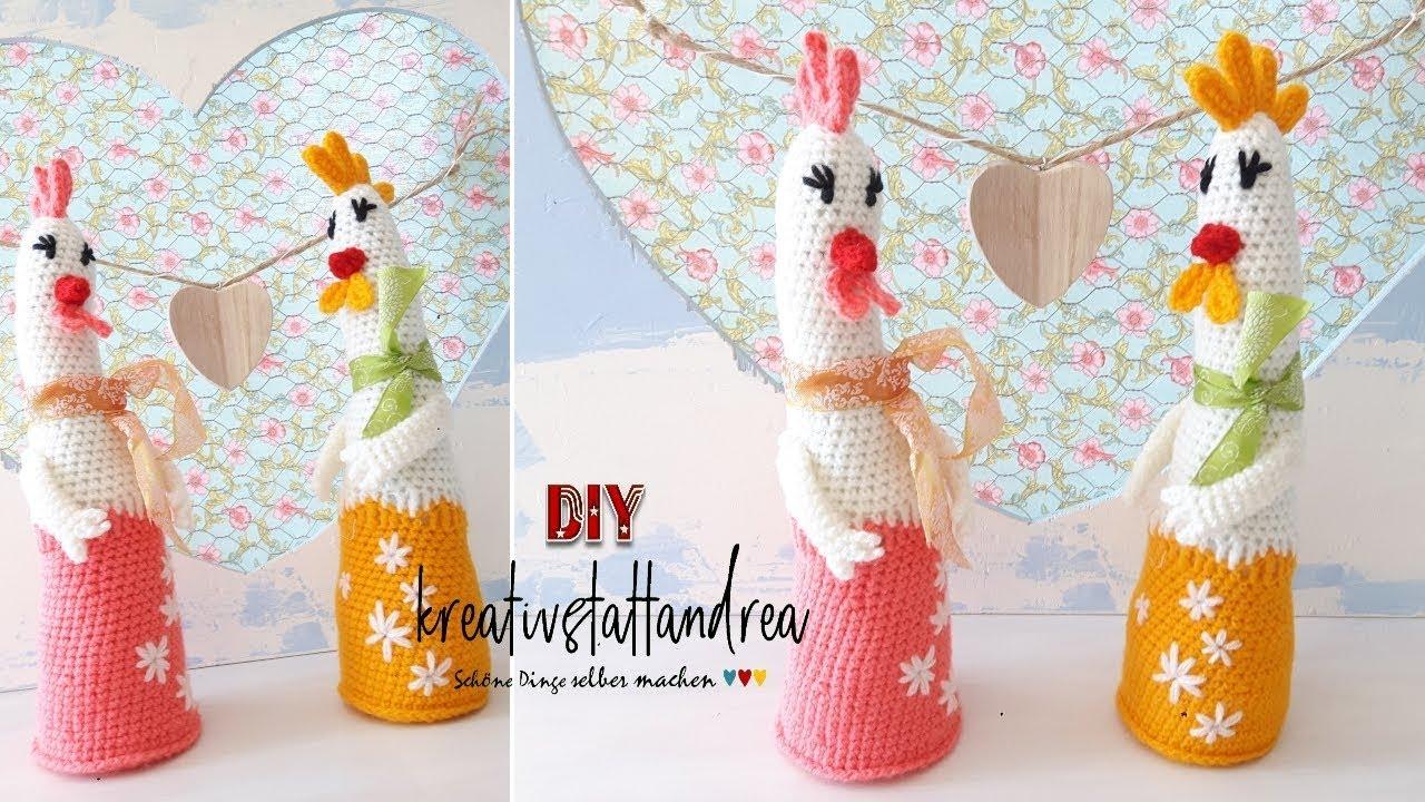 Crochet Easter Chicken Free Pattern with Fan Tail   720x1280