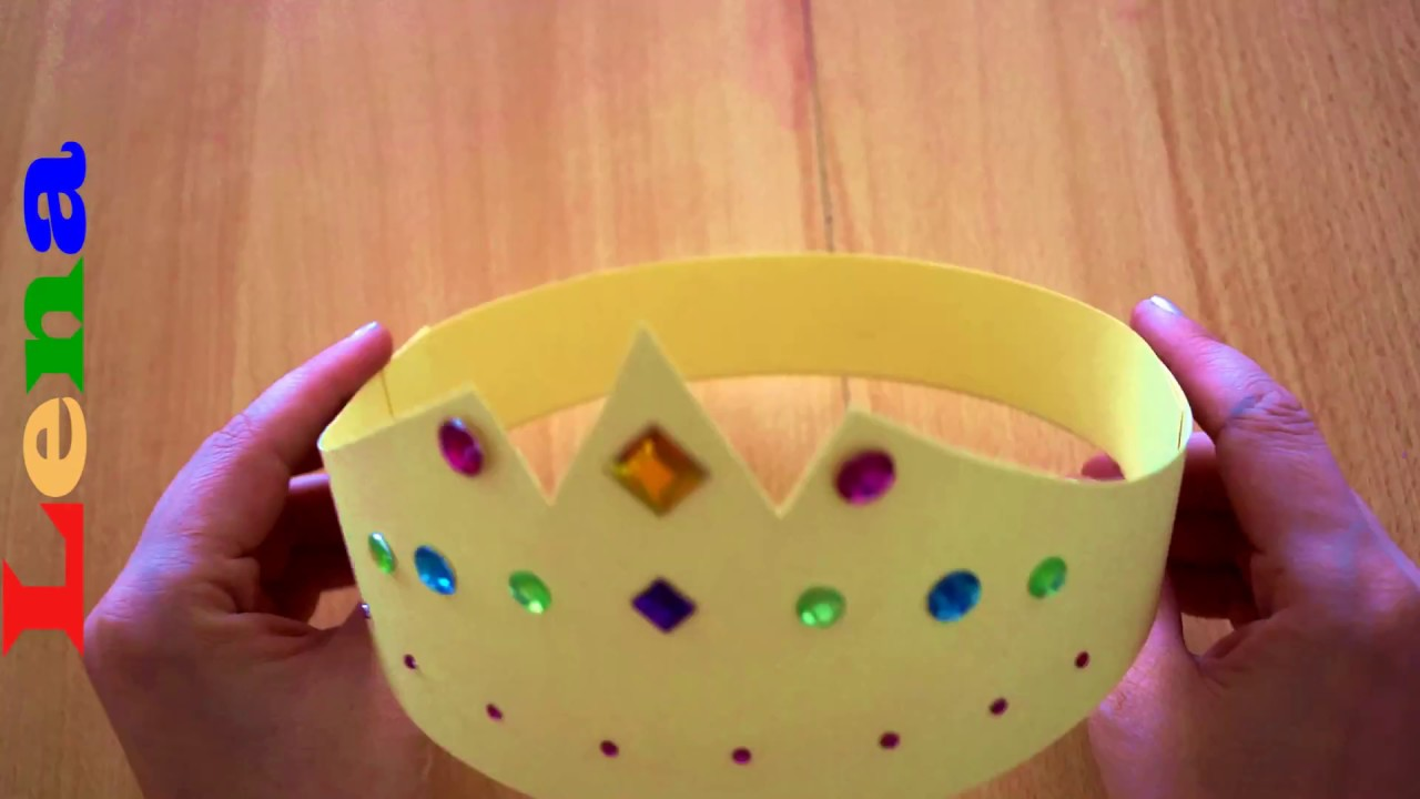 Kinderkrone Basteln Prinzessinnen Krone Basteln Aus Papier How To Make A Princess Crown как сделать корону из бумаги