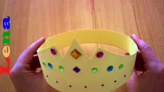 Prinzessinnen Krone basteln aus Papier - How to make a princess crown - как сделать корону из бумаги