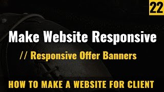 How to make Responsive website offer images - How to make a website in Hindi / Urdu