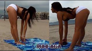 Bikinili Modelden Sıkı Bacak ve Kalçalar İçin Etkili 2 Egzersiz