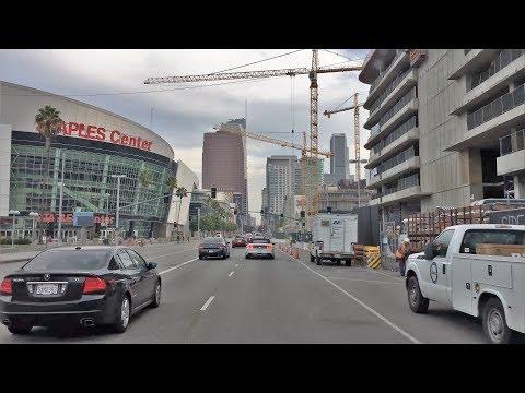 Driving Downtown - LA's Sport Street 4K - Los Angeles USA