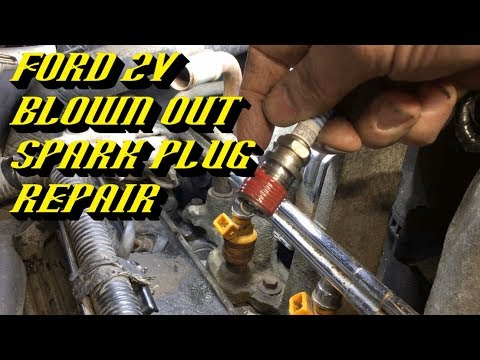 Ford 4.6L 5.4L 6.8L 2v Engines Blown Out Spark Plug Repair: Permanently Fixed in About 15 Minutes!