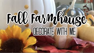 FALL FARMHOUSE DECORATE WITH ME | FALL HOME TOUR 2019 | LIVING IN THE MOM LANE