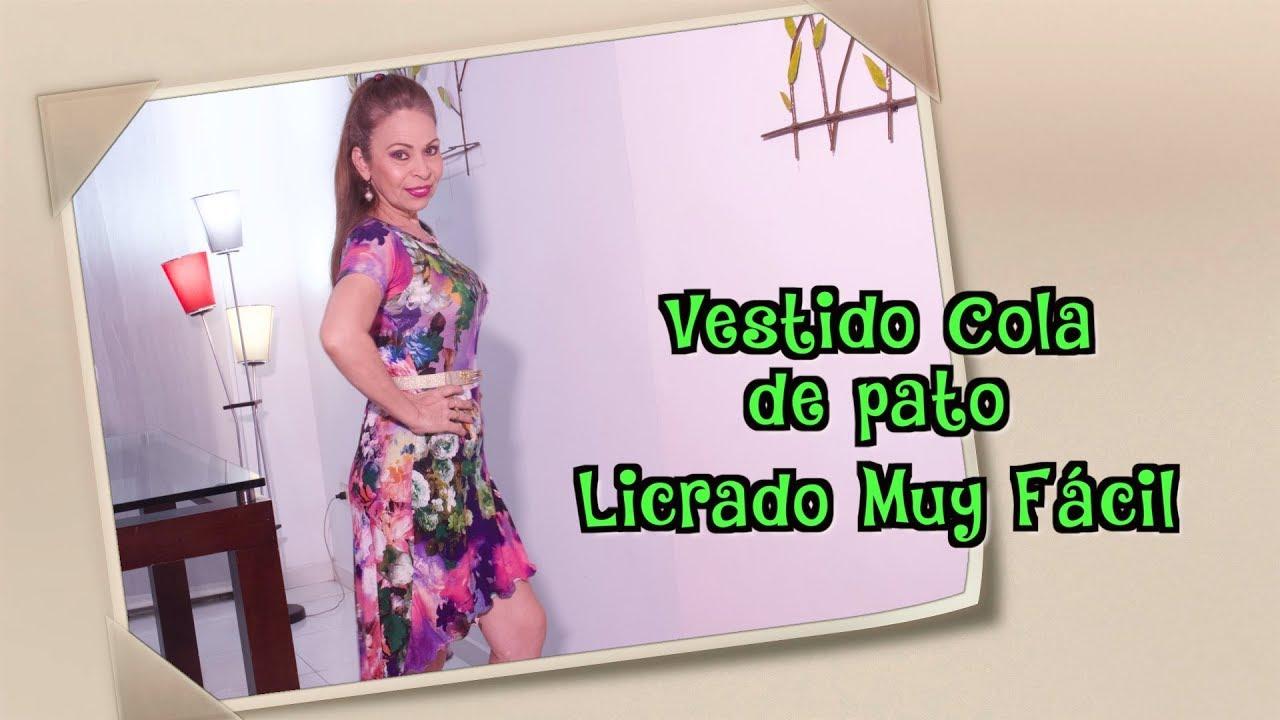 c13082f24 DIY Vestido Cola de Pato Licrado Muy Fácil Liced Ducktail Dress Very Easy  Omaira tv