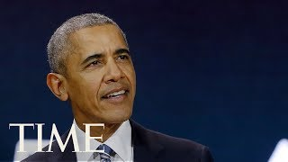 Former President Barack Obama Delivers Speech At 16th Nelson Mandela Annual Lecture | TIME