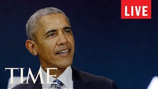 Former President Barack Obama Delivers Speech At 16th Nelson Mandela Annual Lecture | LIVE | TIME