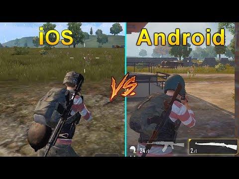 PUBG Mobile iOS vs Android Graphics & Gameplay Comparison | English Version