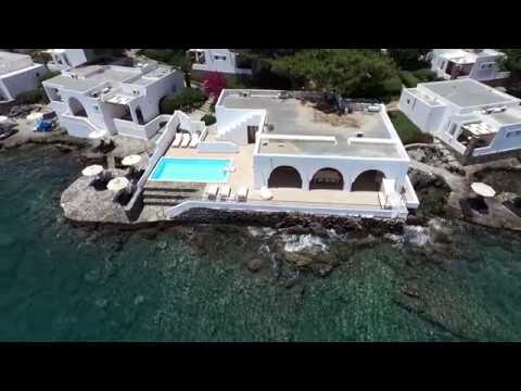 IMAGE FILM MINOS BEACH ART HOTEL ON CRETE ISLAND WITH ROCHELLE FOX