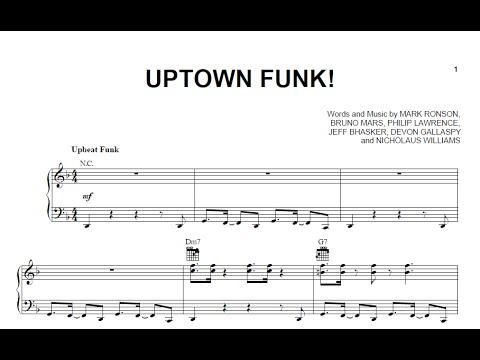 Piano uptown funk piano chords : Uptown Funk - Mark Ronson ft. Bruno Mars [Sheet & Midi Download ...