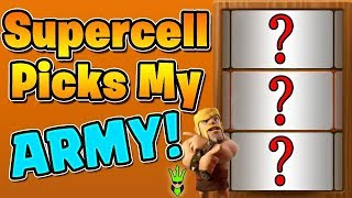 SUPERCELL PICKS MY WAR ARMY! - TH9 Live War Attacks - Clash of Clans - Random War Armies