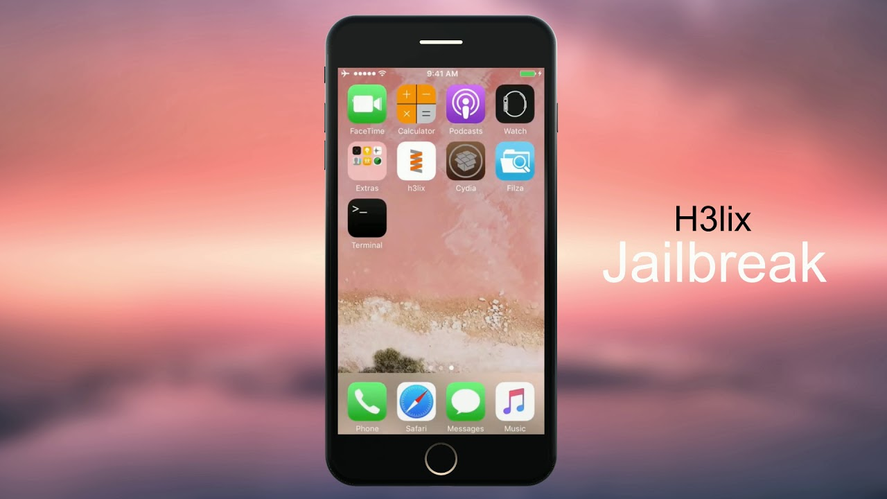 H3lix jailbreak for iOS 10 to iOS 10 3 3 ( 32-bit and Without PC / Online )  )