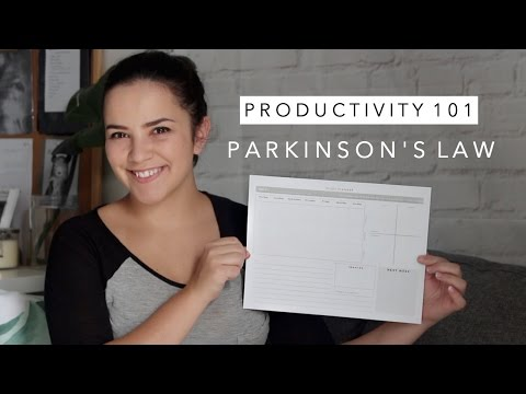 Create a Study Schedule with Parkinsons Law and Time Theming - Productivity 101   Laurie Lo