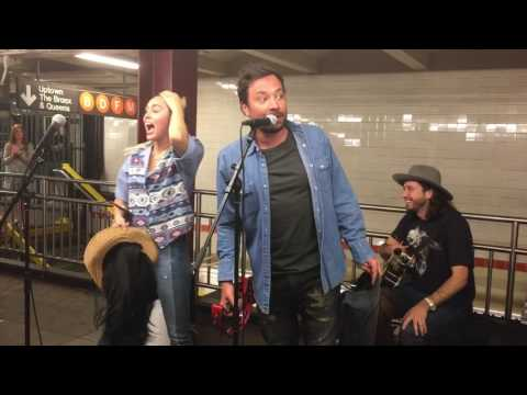 Miley Cyrus and Jimmy Fallon Surprise NYC Subway Performance