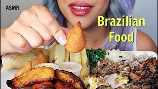 ASMR Brazilian Comfort Food ~ Coxinha-Feijoada-Tropeiro-Pastel [Eating Sounds]