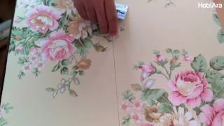 Yapışkan Folyo Uygulama - Masa Kaplama - Adhesive Foil - клейкая фольга - adhésif Foil