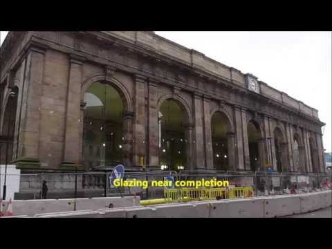Newcastle Central Station redevelopment 2013 to 2014