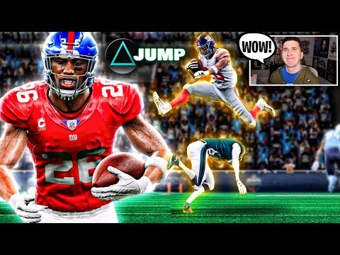 Saquon Barkleys Leap Frog ability is crazy, he jumps over everyone!