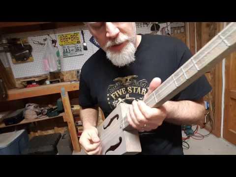 FREAKING AWESOME 3 String Cigar Box Guitar !!!