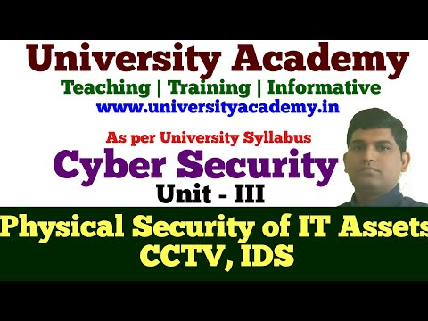 CS18: Physical Security of IT Assets, Access Control, CCTV and Intrusion Detection Systems,