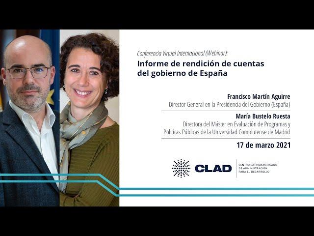 #WebinarCLAD Informe de rendición de cuentas del gobierno de España