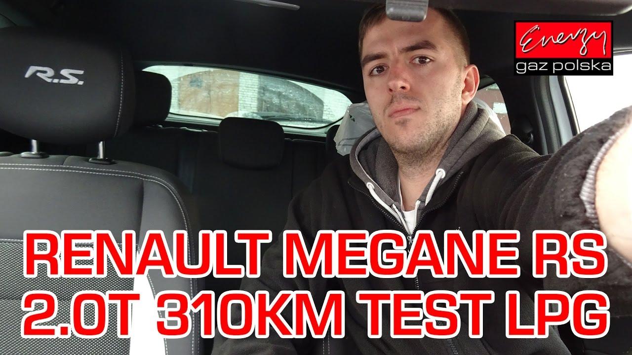 Jazda próbna testowa: Test LPG Renault Megane RS z 2.0T 310KM w Energy Gaz Polska na gaz KME