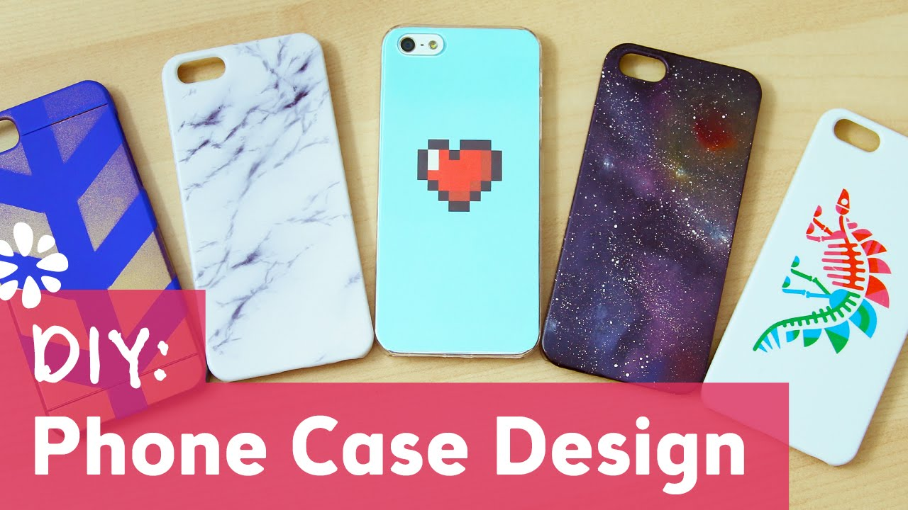 5 diy phone case designs sea lemon youtube for How to make phone cases at home