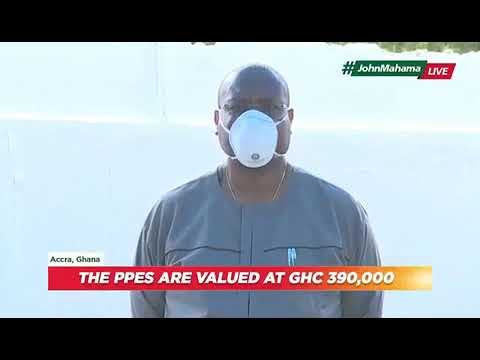 Mahama donates to frontline workers and lays down policy to handle future disease outbreaks