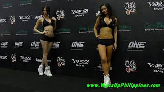 One FC Rise to Power   Ring Girls Felixia Yeap and Christine Hallauer
