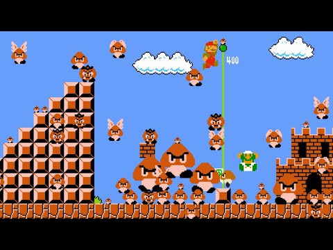 Super Mario Bros. But With 1,000,000 Goombas! [Mari0]