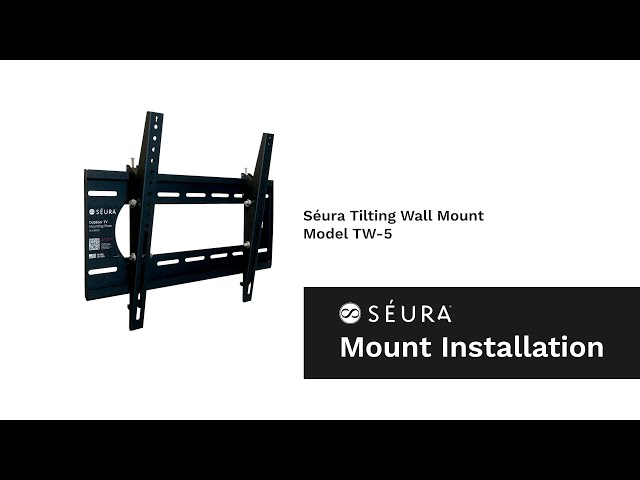 How to Install an Outdoor TV with the Séura Tilting Wall Mount (Model TW-5)