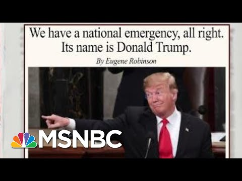 The President Is The National Emergency: Eugene Robinson | Morning Joe | MSNBC