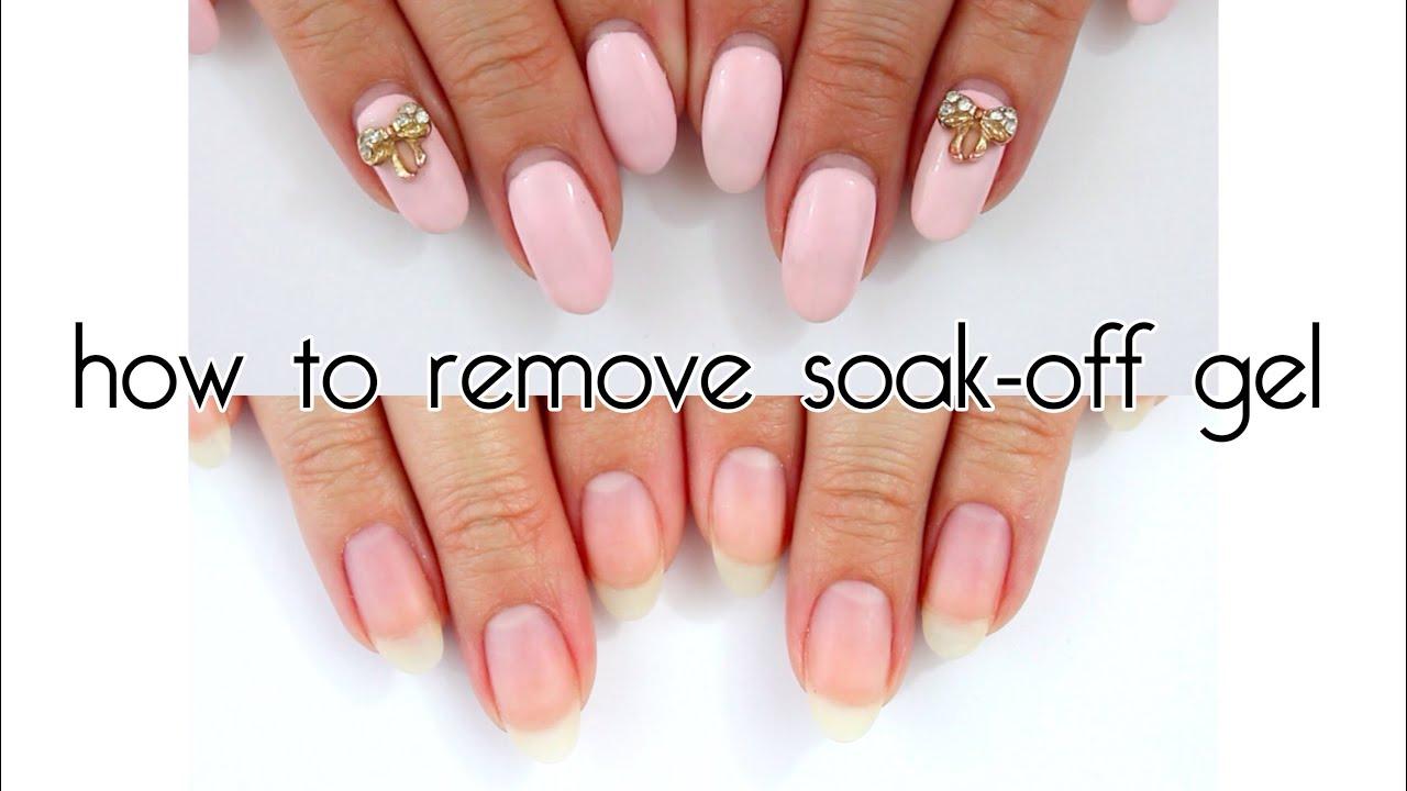 How To Remove Soak Off Gel | Madam Glam Soak Off Gels ♡ - YouTube